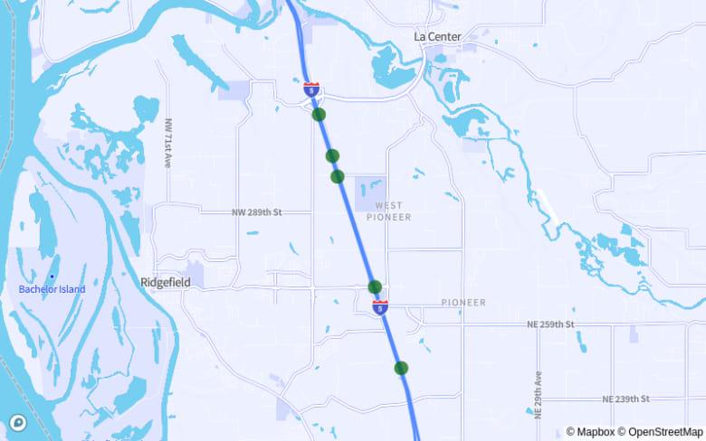 Ridgefield-La Center: I-5