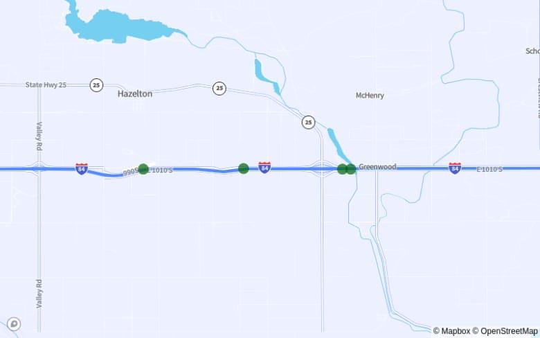 Map of US-95 Between Exit 442 and Boekel Rd.
