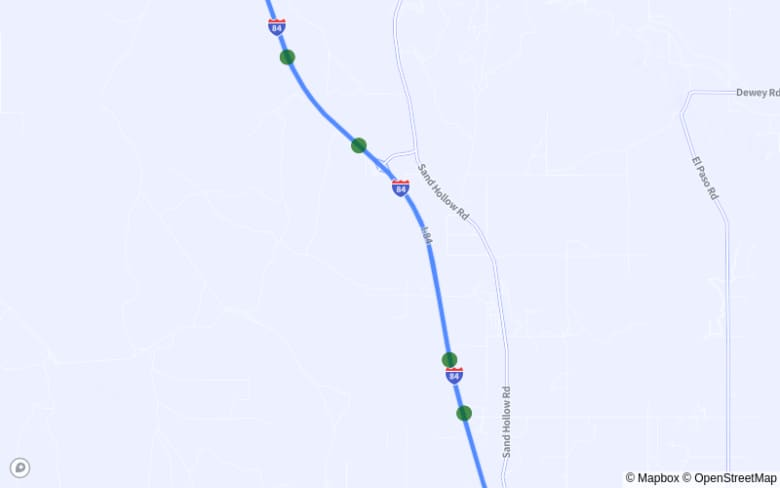 Map of I-84 Between Exit 188 and Exit 194