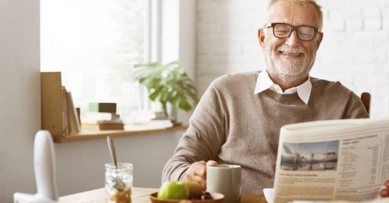 A happy retired man