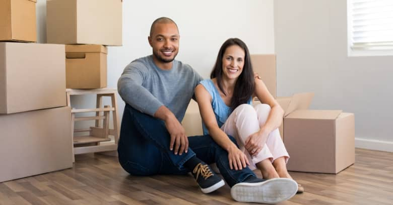 Young couple purchasing a home