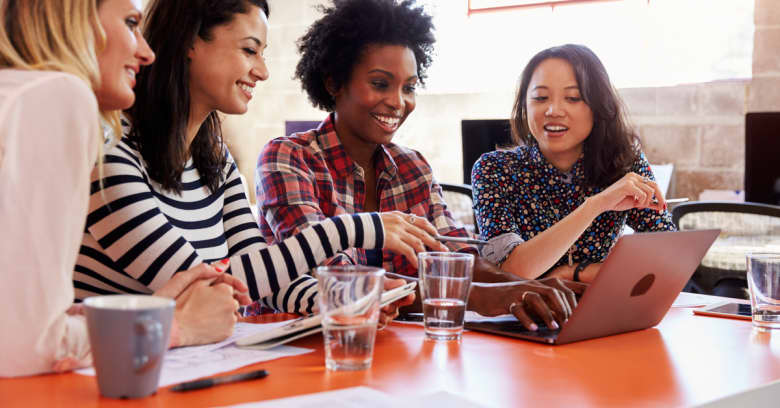 A small group of women meet to help each other make sound financial decisions