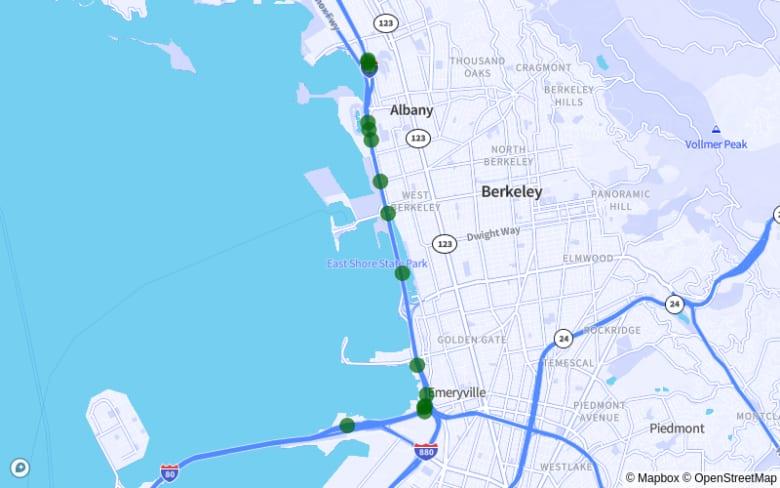 Berkeley | Oakland | Emeryville | Albany map