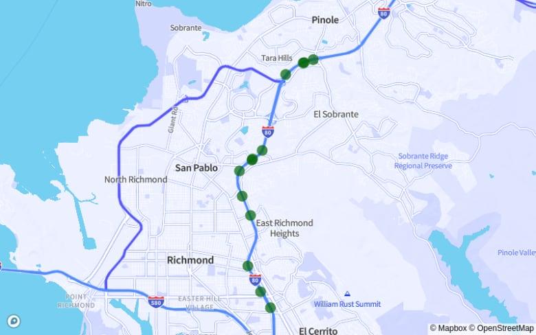 Richmond | El Cerrito | Pinole | San Pablo map