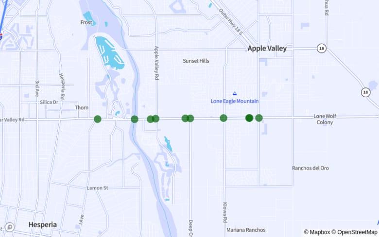 Apple Valley | Hesperia map