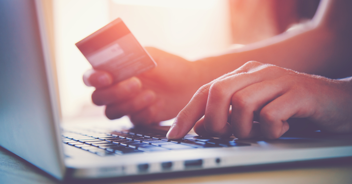 Paying with a credit card online