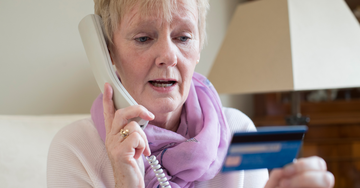 an older woman tries to make a charitable donation by phone