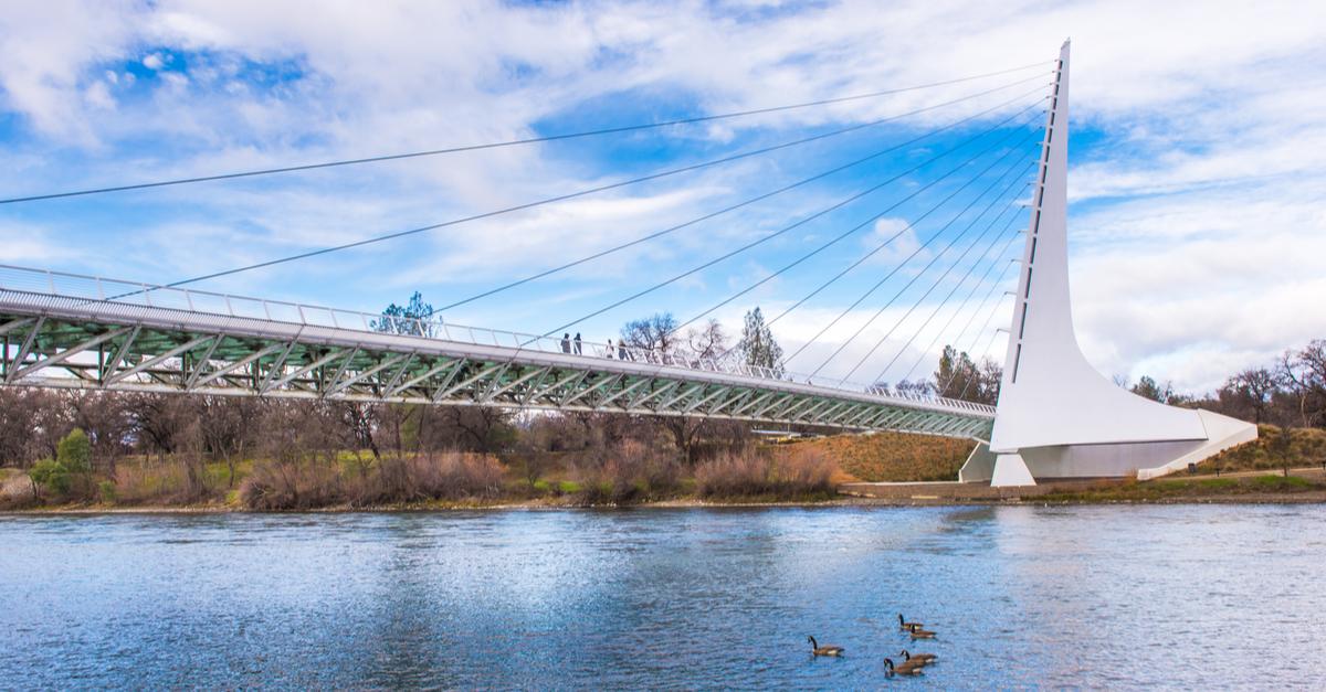 Sundial Bridge in Redding, California.