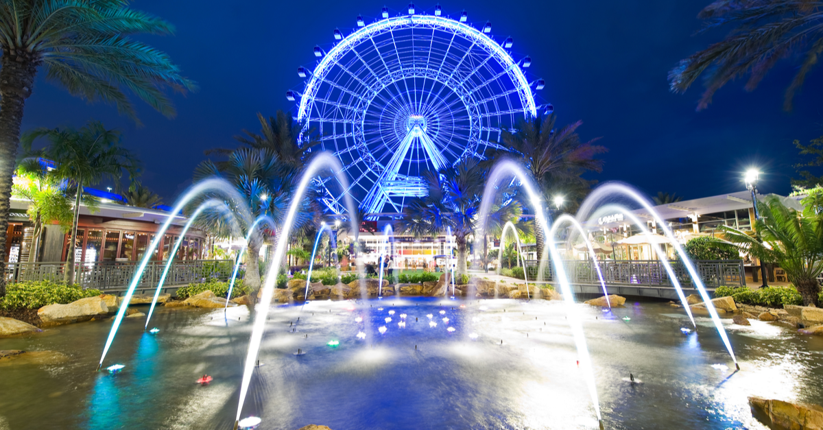 The Orlando Eye, a 400 foot tall Ferris wheel in Orlando and the largest observation wheel on the East Coast
