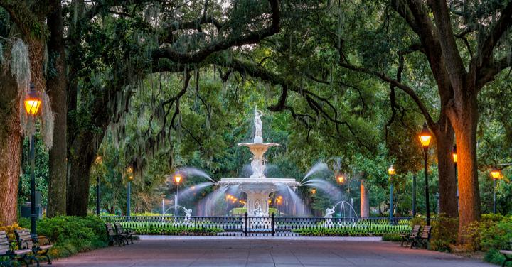Forsyth Fountain, Savannah, Georgia