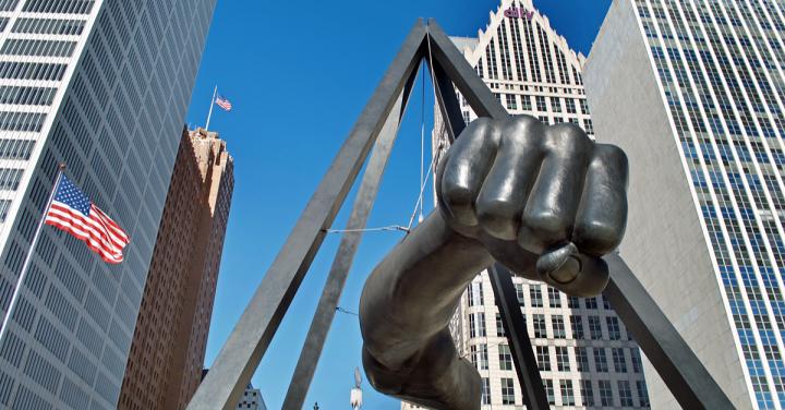 Joe 'The Fist' Lewis, Hart Plaza, Detroit, Michigan