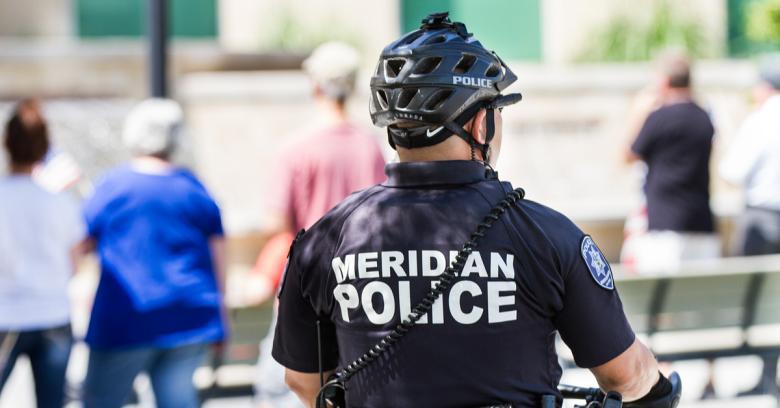 A law enforcement officer in Meridian, Idaho