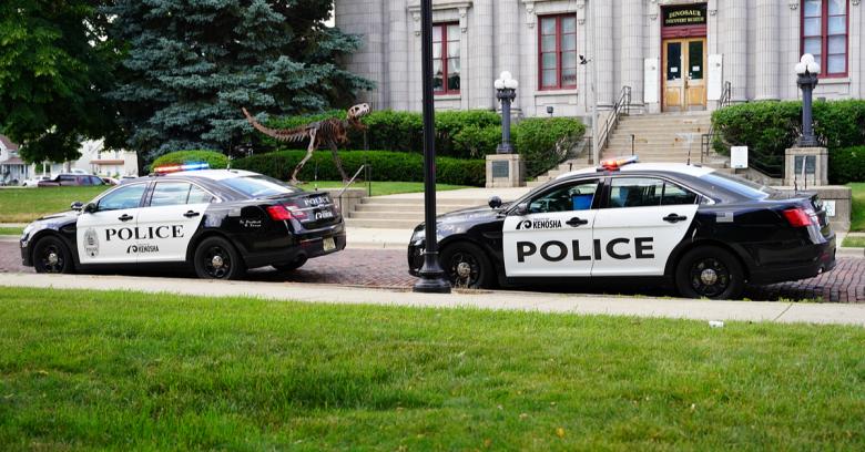 police vehicle in Kenosha, Wisconsin