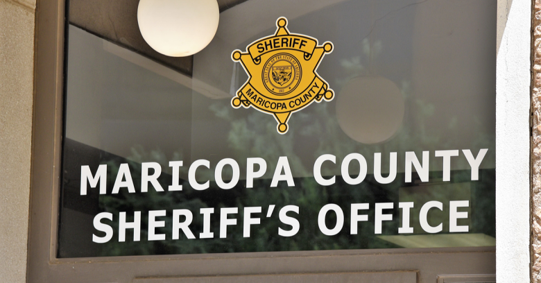 The front entrance to the Maricopa County, Arizona sheriff's office