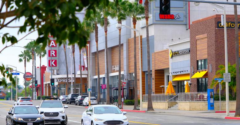 a city street in Long Beach, California