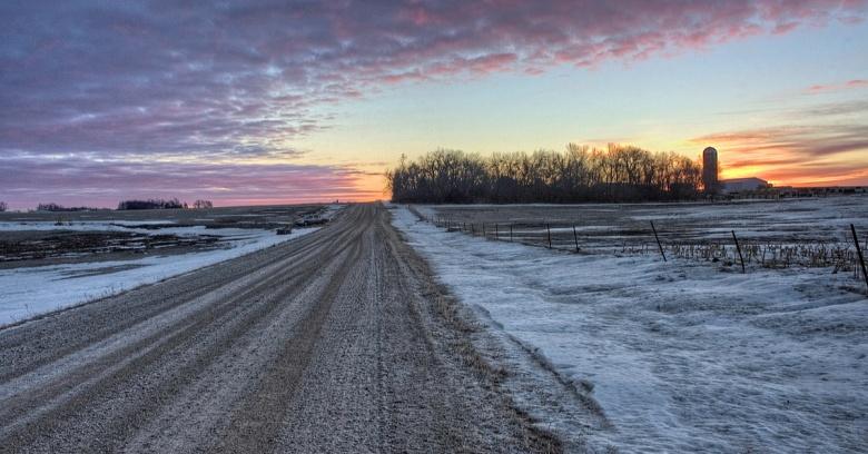 South Dakota winter driving