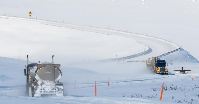 Alaska winter driving
