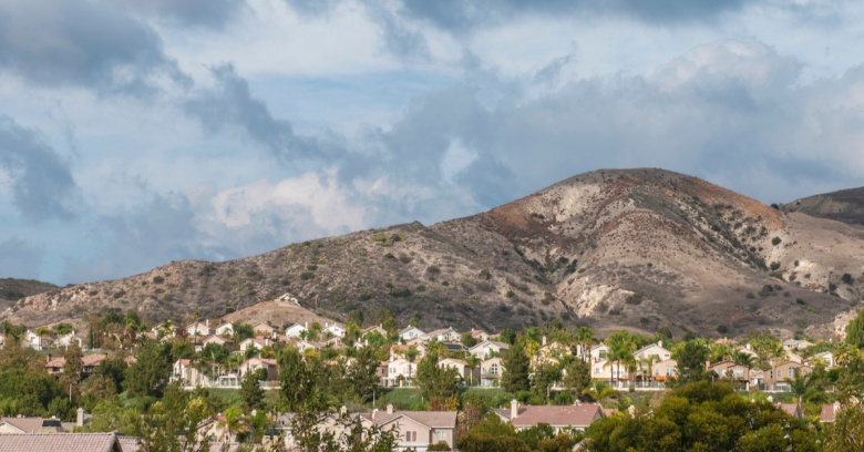 A view of a residential area near Racho Santa Maragarita, which was rated the safest small city in California.