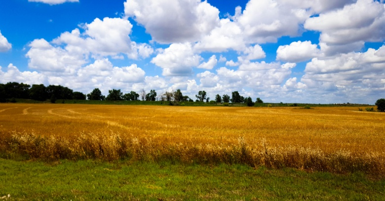 A landscape off of Route 66 in Oklahoma.