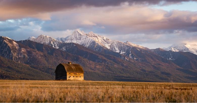 A barn in Montana.