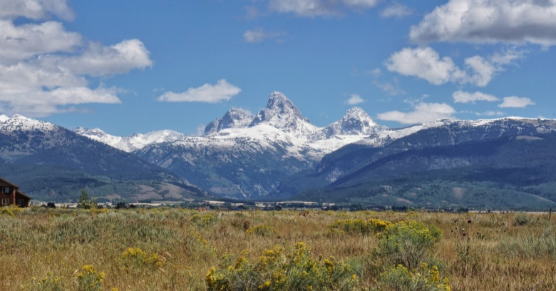 A view of the Tetons from Idaho.