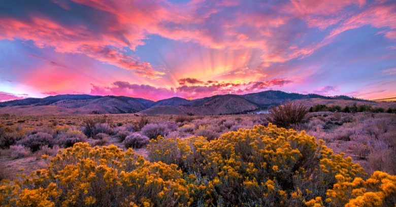 A sunset in Nevada.