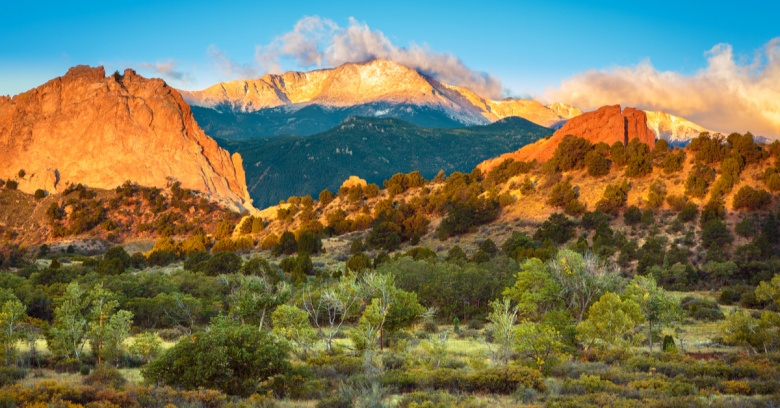 A sunrise in Colorado Springs.