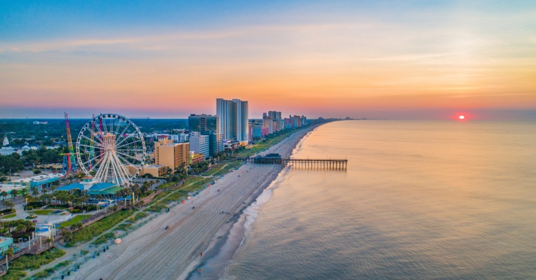 A view of Myrtle Beach in South Carolina.