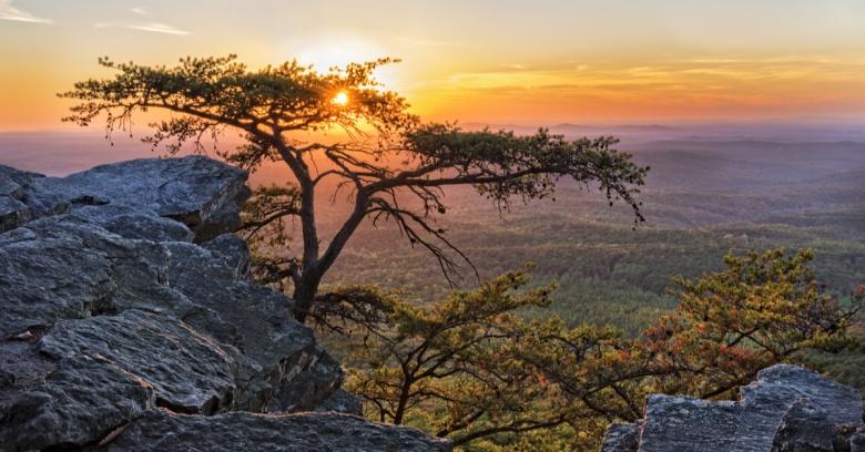 A sunset in Alabama.