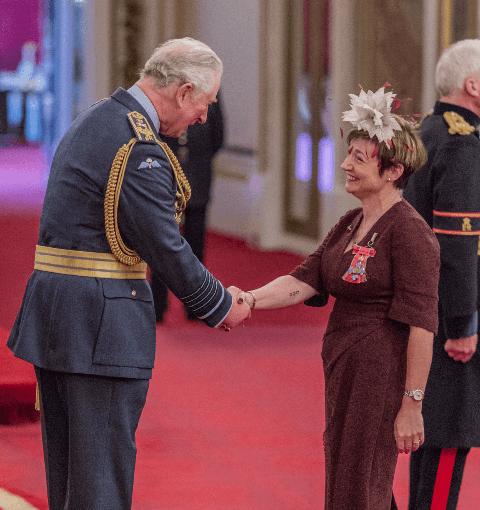 Prince Charles and Rachel Clacher