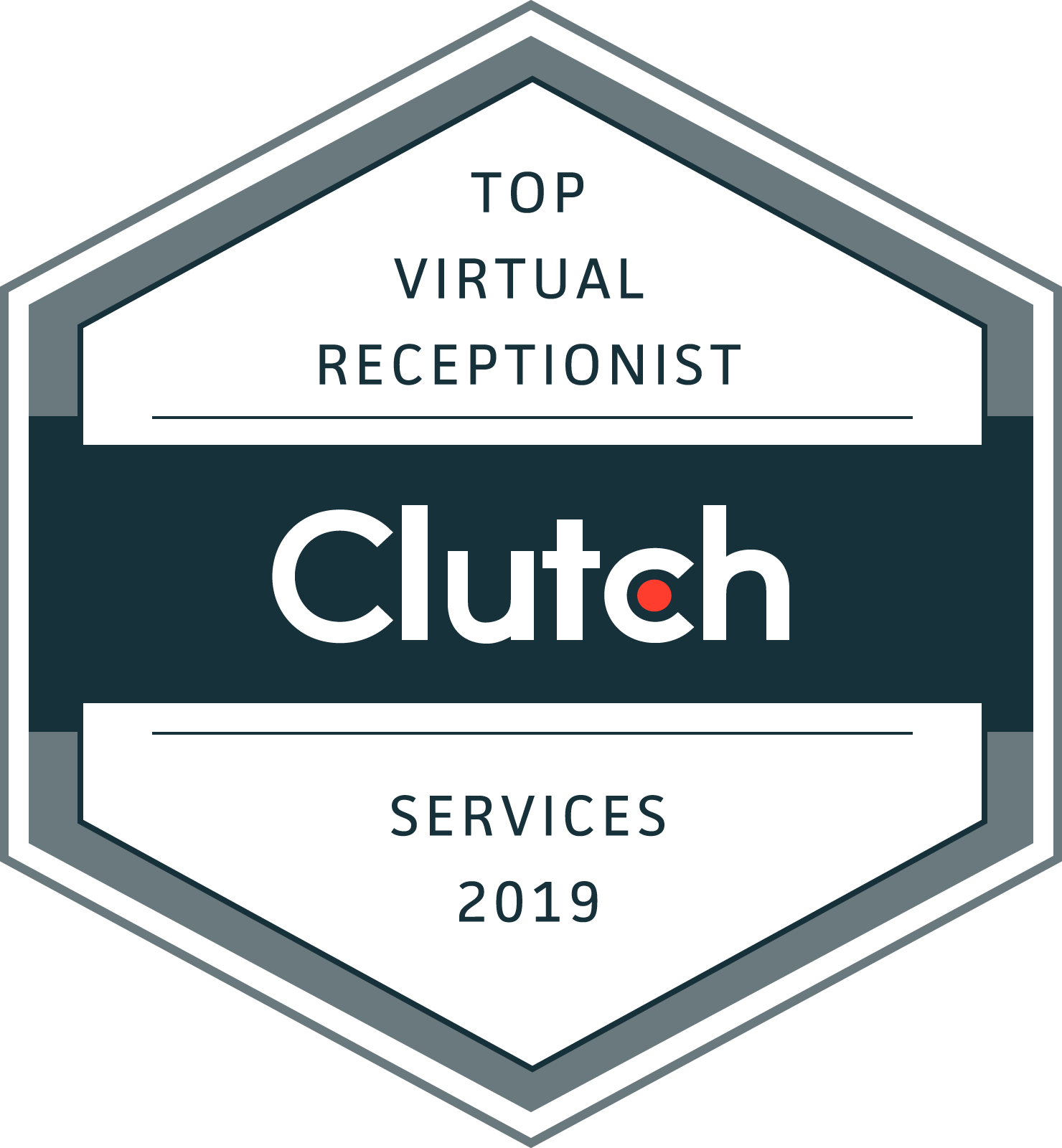 Clutch Virtual Receptionist logo