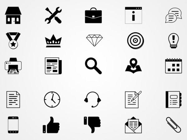 Iconos de Negocios en Vectores Gratis | Pack de Iconos