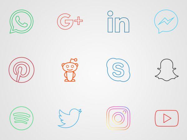 Iconos Redes Sociales mas Populares | Redes Sociales Vector
