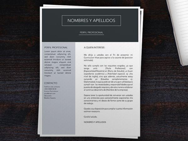 Carta de Presentacion Ejemplo en Word | Ejemplos de Cover Letter