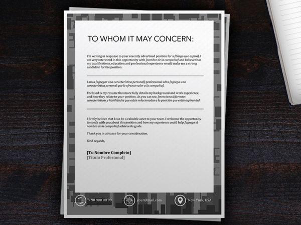 Ejemplos de Cover Letter | Cover Letter Template
