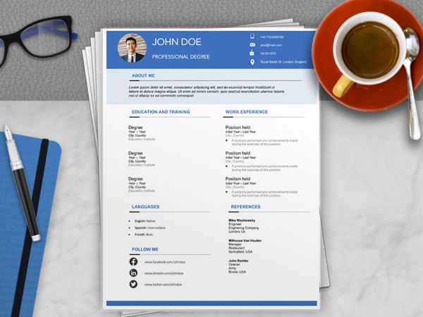 europass cv template archives