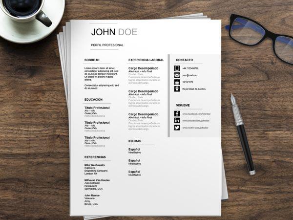 Modelos de CV Ejecutivos | Plantilla Curriculum