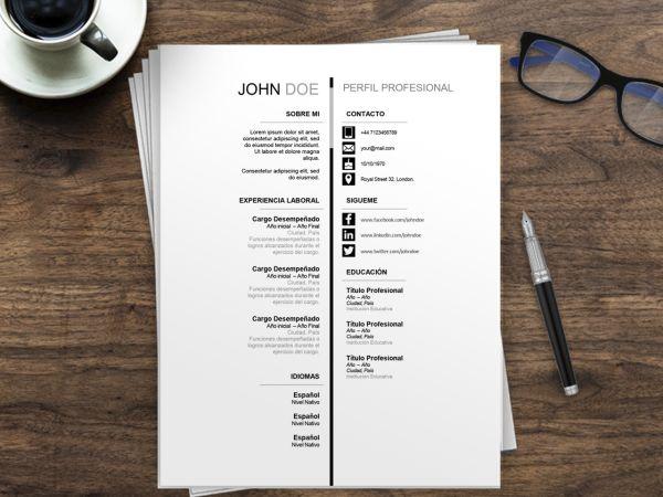 CV para España | Plantilla Curriculum