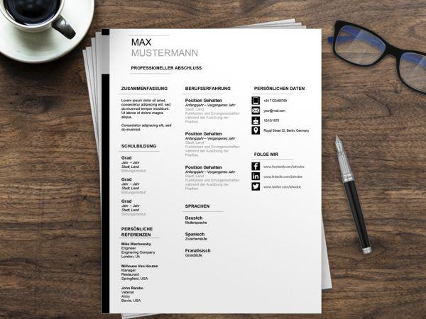 Download Lebenslauf Muster Word | Bewerbungsschreiben