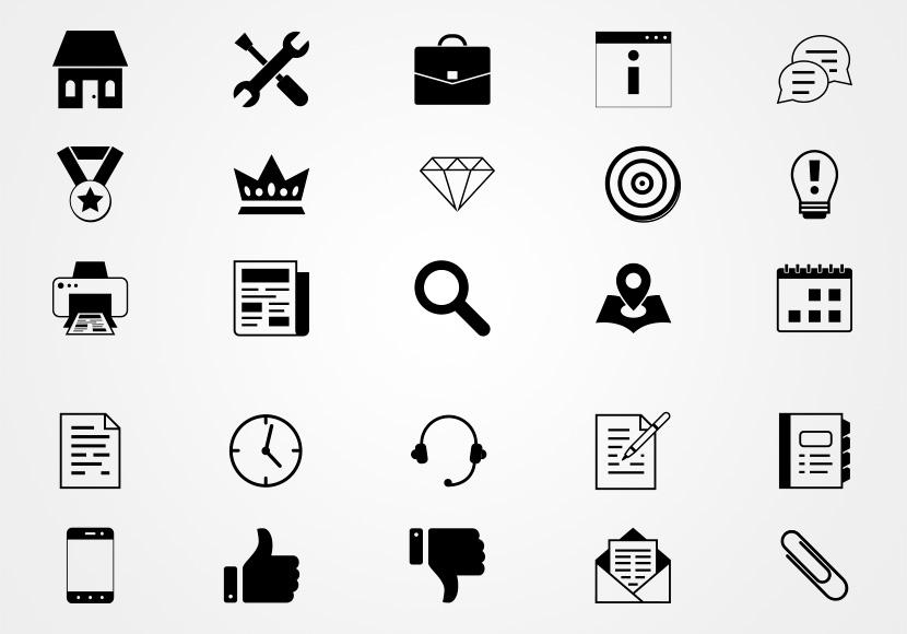Iconos de Negocios en Vectores Gratis   Pack de Iconos