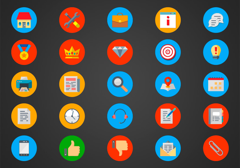 Pack de Iconos Gratis - 25 Iconos de Negocios | Business Icon Pack
