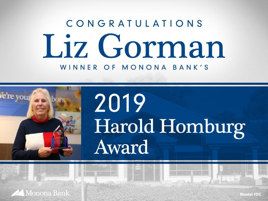 2019 Harold Homburg Award: Liz Gorman