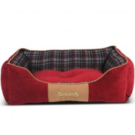 Scruffs Highland Red Box Bed  Large