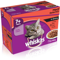 WHISKAS 7+ Meat Selection In Gravy Cat Food