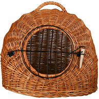 Trixie Wicker Cave with Bars Cat Carrier Brown