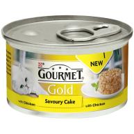 Gourmet Gold Savoury Cake Chicken In Gravy Adult Cat Food 85g x 12