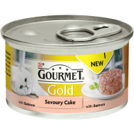 Gourmet Gold Savoury Cake Salmon In Gravy Adult Cat Food 85g x 12