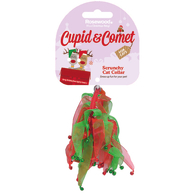Rosewood Cupid & Comet Scrunchy Christmas Cat Collar