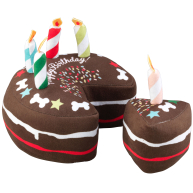 House of Paws Birthday Cake & Slice Dog Toy