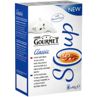 Gourmet Soup Fish Variety Multipack Adult Cat Food 40g x 4